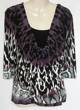 Women's Scoop Neck Animal Print Casual 3/4 Sleeve Sleeve Tops & Shirts