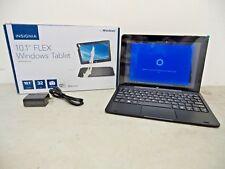 """Insignia Flex 10.1"""" Tablet 32GB with Keyboard NS-P10W8100 Windows 10 - Black"""