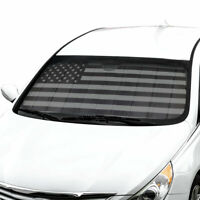 Car Sun Shade Black Flag Front Window Windshield Sunshade Cover Auto Truck SUV