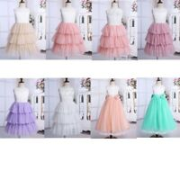 Princess Junior Flower Girl Dress Bridesmaid Lace Tulle Wedding Prom Ball Gown
