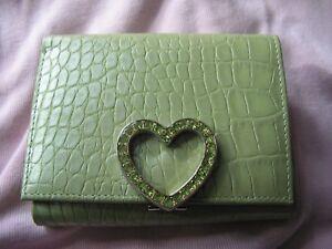 Lovcat Wallet Heart Clasp Standard Wallets Green