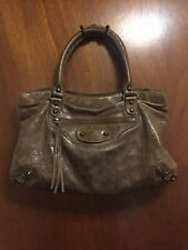 Authentic BALENCIAGA Shoulder Handbag leather With Mirror