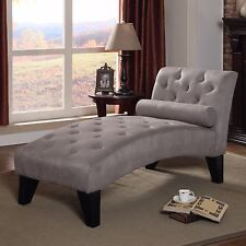 Chaise Lounge Chair Bench Living Room Furniture Daybed Upholstered Sofa Tufted