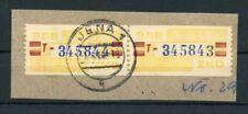 DDR-DIENST Nr.25T PAAR Briefstück gestpl. JENA 7.4.1960 !!! (107704)