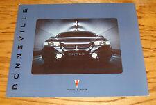 Original 2002 Pontiac Bonneville Deluxe Sales Brochure 02 SE SLE SSEi