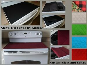 Stove Top Cover & Protector for Glass Stoves Standard and Custom Sizes & Colors