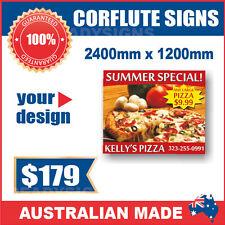 Custom Corflute Signs 2400mm x 1200mm x 5mm  - Australian Made