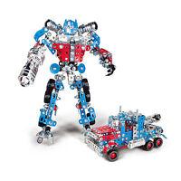 Optimus Prime Iron Commander Meccano Style DIY Metal Robot Transformer Truck