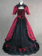 Lolita Women Gothic Long Dress Vintage Reenactment Ball Gown Dress Victorian