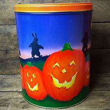 Hallmark Halloween Tin Bucket with Jack O' Lanterns & Night Scene