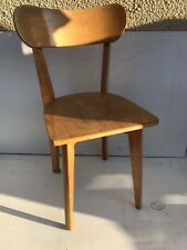 Chaise Ancienne Scandinave Assise Dossier Bois Annees 70 Vintage