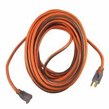 Ridgid 100 Feet 14/3 Flexible Outdoor Extension Cord, Orange with Grey Stripe