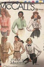 McCalls Liz Claiborne pattern 7751 Misses Shirts & Jabot size 12 bust 34 uncut