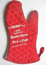 Budweiser Beer Barbeque Oven Glove BBQ Mitt Pick A Pair c. 1963 Holiday Magazine