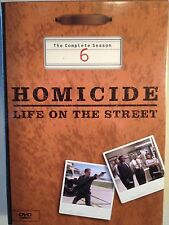 HOMICIDE LIFE ON THE STREET SEASON 6 (6 DVD, 2005, NEW IN ORIGINAL SHRINK WRAP)