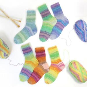 6 x100 gr. Sockenwolle/Strumpfwolle Rellana Baumwolle Flotte Socke Tutti Frutti