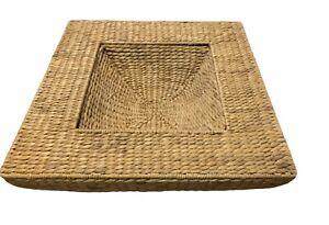 """Square Woven Reed Basket 22""""L x 22""""W x 8""""H"""
