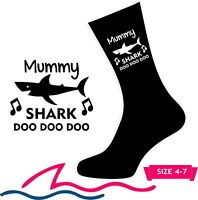 SHARK SOCKS Mummy Daddy Dad Grandad Uncle Auntie Nana Grandma Personalised GIFTS