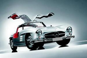 Blechschild 20 x 30 cm, Mercedes, Flügeltüren, Nostalgie