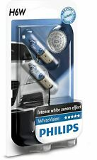 Philips White Vision Rear H6W 12036WHVB2 position parking light 12V 6W BAX9s x2