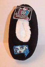 Monster High Black Fuzzy Babba Fleece Slipper Socks Girl's Shoe Size 8-13 S/M