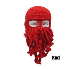 Wind Ski Wool Knit Cosplay Cthulhu Beanie Tentacle Mask Beard Octopus Squid Cap