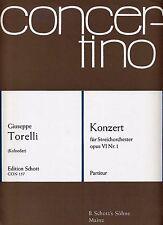 """Torelli Concerto pour cordes op VI N° 1 partition """"conducteur"""" / score"""