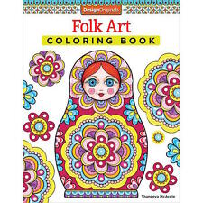 Folk Art - Design Originals - Adult Colouring Book