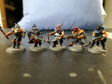 Warhammer 40k chaos cultists, plastic, painted squad of 5