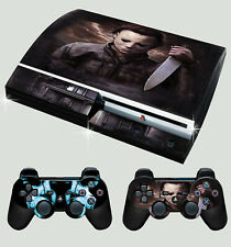 PLAYSTATION PS3 OLD SHAPE HALLOWEEN MICHAEL MYERS HORROR SKIN & 2 PAD SKINS