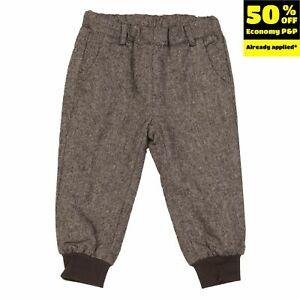 HEACH JUNIOR BY SILVIAN HEACH Trousers Size 9-12M Wool Blend Cuffed