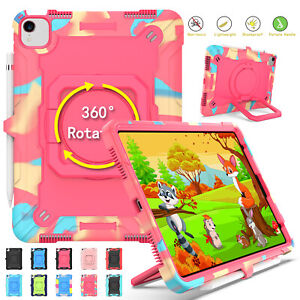 Kids Rubber Handle Stand Case For iPad Pro 11 2021 10.2'' 7/8th Gen Air3 4 Strap