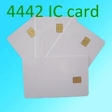 10 PZ ISO 7816 BIANCO PVC IC con sle4442 Chip Bianco SMART CARD contatto Scheda IC