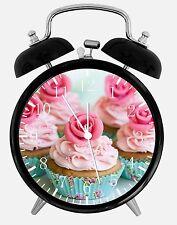 "Cup Cake Alarm Desk Clock 3.75"" Home or Office Decor E06 Nice Gift"