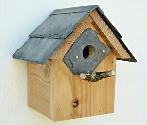 Birthday Christmas Gift Bird House Box Welsh Slate Nesting garden Wales Dad