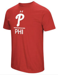 Under Armour Men's Philadelphia Phillies City Abbreviation Jersey Shirt Large L