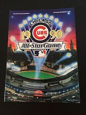 1990 MLB All-Star Game Program Baseball Wrigley Field Chicago Cubs Book