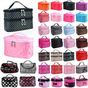 Ladies Travel Toiletry Organizer Make Up Case Vanity Beauty Cosmetic Bag Hangbag