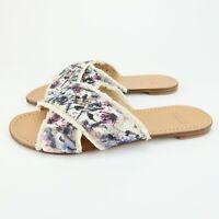 Stuart Weitzman Edgedout Sandals Womens Size 7.5 M Mauve/Crayon/Napa pl2
