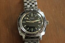 Vintage Mens Chalet Diver Watch Swiss Made Tachymeter Dial Date Runs