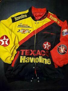 Vintage Ernie Irvan #28 Jeff Hamilton Texaco Havoline Racing Jacket Mens Sz XL