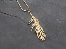 Halskette Kette Engelsfeder in Gold Engel Feder Flügel Boho Bohemian Geschenk
