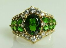 Kit Heath Diopside Cocktail Ring in Gold Plated Sterling Silver Size 10