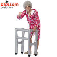 AC304 Inflatable Costume Zimmer Frame Gravity Granny Funny Old Man Woman Lady