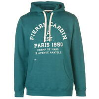 Pierre Cardin OTH Graphic Hoodie Mens Teal Hoody Pullover UK Size S *REF34