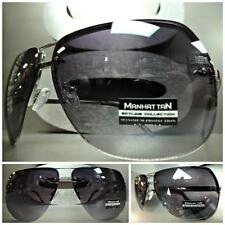 Men or Women CLASSIC VINTAGE RETRO Unique Style FASHION SUN GLASSES Silver Frame