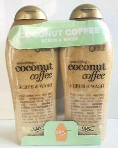 OGX SMOOTHING COCONUT COFFEE SCRUB & WASH