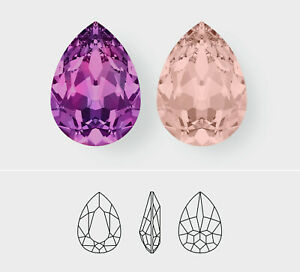 14mm x 10mm   Pear   Swarovski Article 4320   3 Pieces - Choose Crystal Color