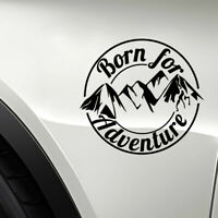 Born For Adventure SUV Off Road Truck Mountain Silhouette Car Sticker Decal