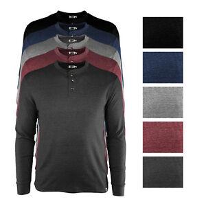 Buffalo Outdoors® Men's Long Sleeve 3 Button Textured Henley Long Sleeve Shirt